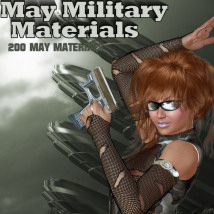 May Military Materials 3D Figure Essentials 2D WhopperNnoonWalker-