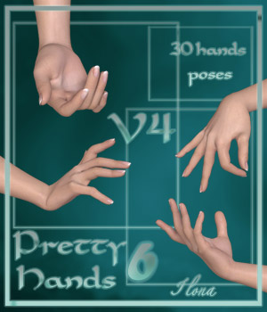 Pretty Hands 6 - V4 3D Figure Assets 3D Models ilona