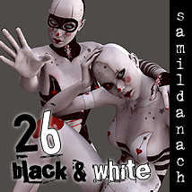 26 Black & White 3D Figure Essentials _samildanach_