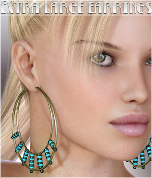 Extra Large Earrings 3D Figure Assets 3D Models lilflame