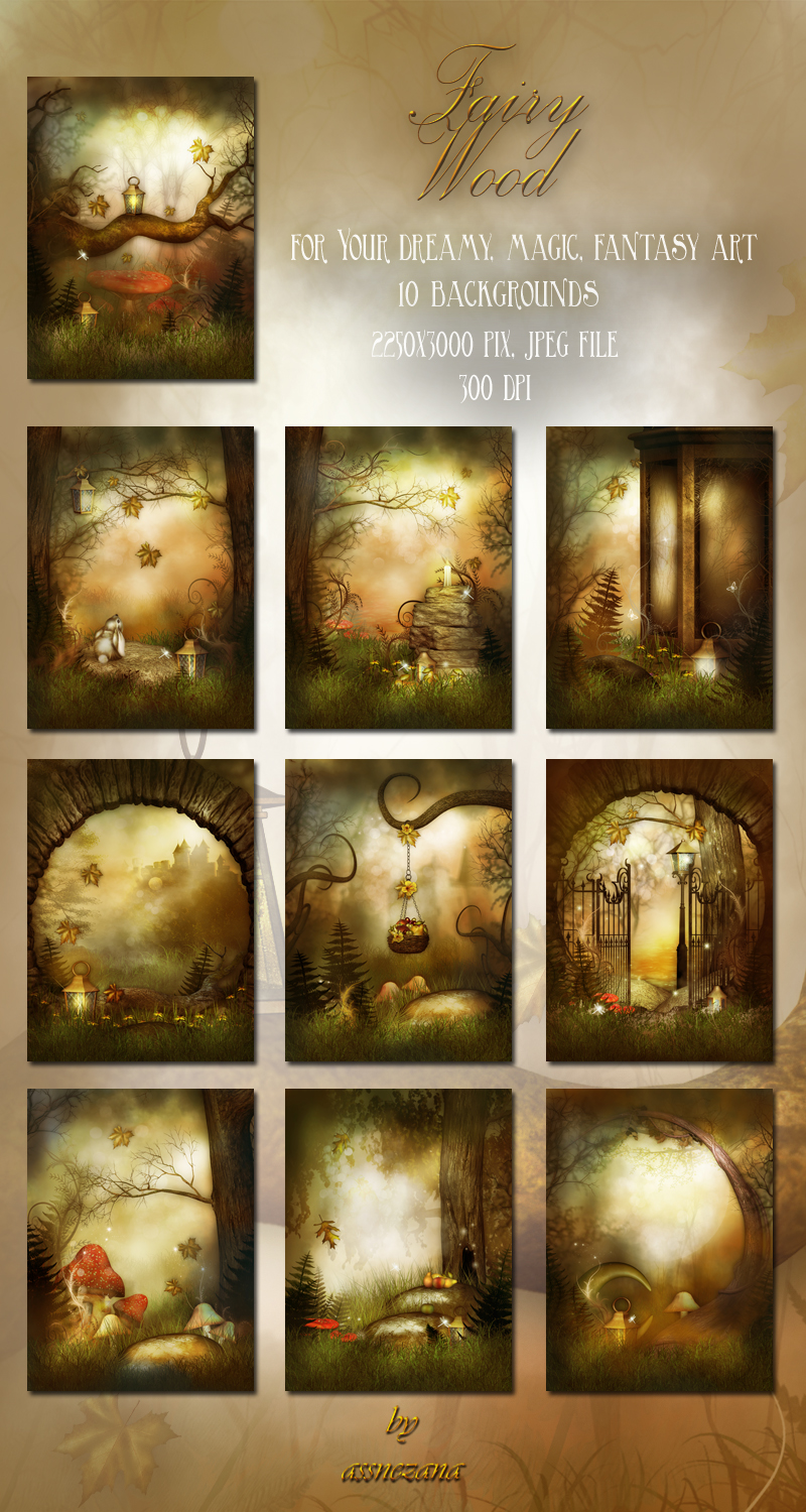 Fairy Wood BACKGROUNDS II