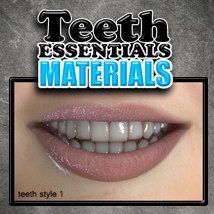 Exnem Teeth Materials 3D Figure Assets 2D Graphics exnem