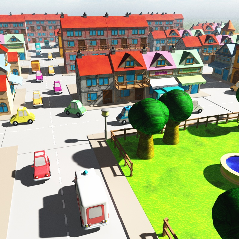 3DToons Toon Village for Vue