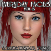 Everyday Faces Vol 5 3D Figure Assets Freja