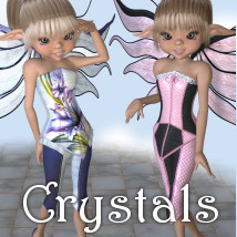 Crystals 3D Figure Essentials 3D Models JudibugDesigns
