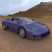 Bugatti EB 110 (for 3D Studio Max) 3D Models Digimation_ModelBank