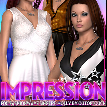Impression for FASHIONWAVE Singles: Molly V4/A4/G4 3D Figure Assets ShanasSoulmate