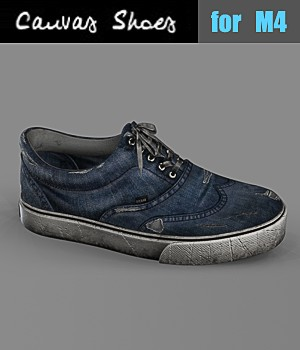Canvas Shoes for M4 3D Figure Assets hitman47