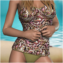 Psychodelic for Retro Swimsuit Themed Clothing OziChick