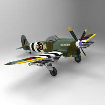 Hawker Typhoon (for 3D Studio Max)  Digimation_ModelBank
