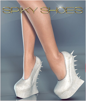 Spiky Shoes 3D Figure Assets Legacy Discounted Content lilflame