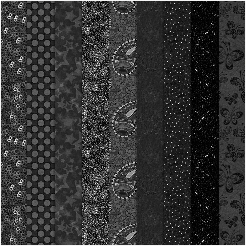 Digital Patterns - Black
