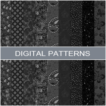 Digital Patterns - Black 2D Graphics Atenais
