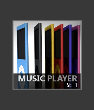 Music Player Set 1 3D Models TruForm