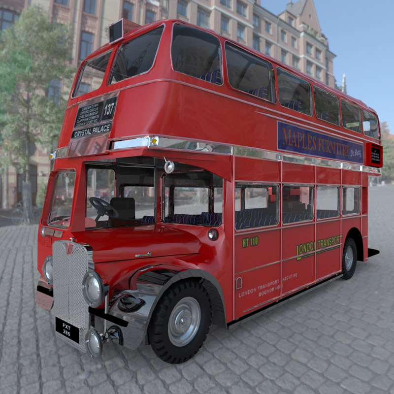 Bus AEC London  for 3D Studio Max