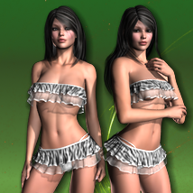 Animalistic for Crazy Belle III 3D Figure Assets XIIIDesigns