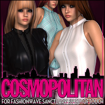 Cosmopolitan for FASHIONWAVE Sanctuary 3D Figure Assets ShanasSoulmate