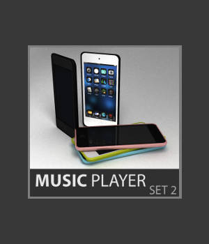 Music Player Set 2 3D Figure Essentials 3D Models TruForm
