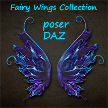 Exnem Fairy Wings Collection 3D Figure Assets 3D Models exnem