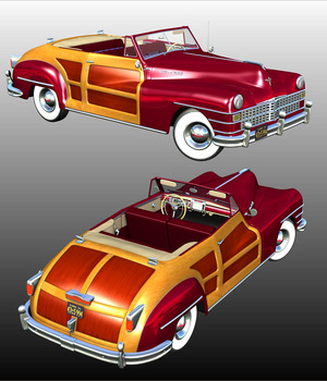 CHRYSLER TOWN AND COUNTRY 1948 (for Poser) 3D Figure Essentials 3D Models Nationale7