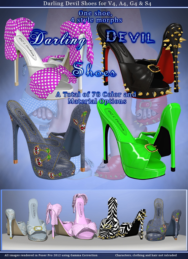 Darling Devil Shoes for V4