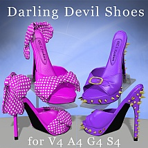 Darling Devil Shoes for V4 by DreamerZ_Loft