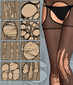 Ripped Pantyhose 2D Graphics Atenais