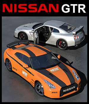 Nissan GTR R35 3D Models 2nd_World