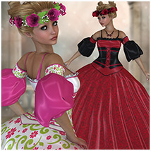 Royalty For Princess Lilly 3D Figure Assets Belladzines