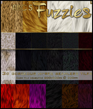 ABC's Fuzzies 2D 3D Models Bez