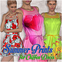 Summer Prints for Chiffon Dress Clothing Atenais