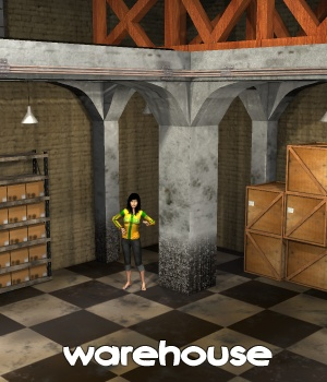 Warehouse Props/Scenes/Architecture Themed greenpots