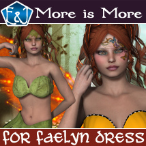 More Is More For Faelyn Dress 3D Figure Assets EmmaAndJordi
