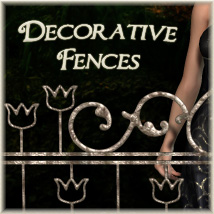 Scene Accessories-Fences 3D Models PandyGirl