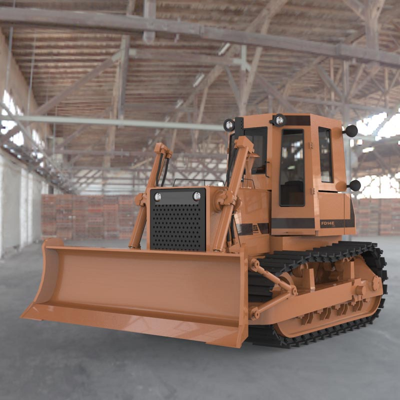 Bulldozer FD14 E (for 3D Studio Max)