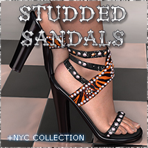 NYC: Studded Sandals Footwear 3DSublimeProductions