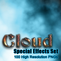 Cloud elements effects set 2D Graphics TheToyman