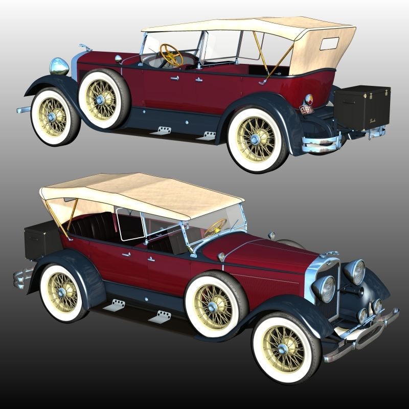 LINCOLN SPORT TOURING 1929 (for Poser) by 3DClassics