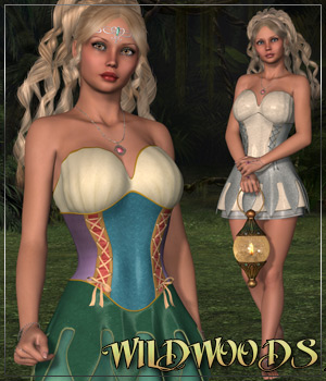 WILDWOODS for Faelyn Dress 3D Figure Assets Anagord