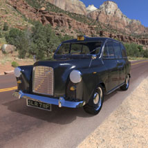 London Taxi (for 3D Studio Max)  Digimation_ModelBank