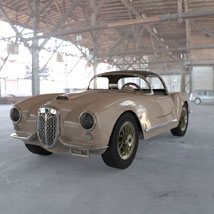Lancia Aurelia B24 Spider (for 3D Studio Max) Themed Software Digimation_ModelBank