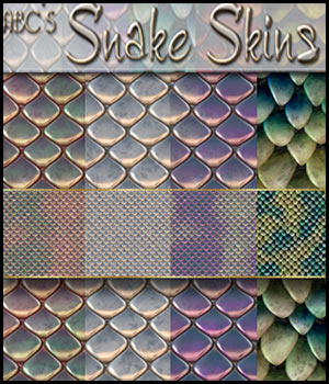 ABC's Snake Skins 2D Graphics 3D Models Bez