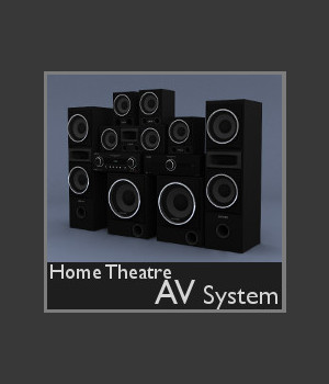 Home Theatre AV System 3D Models TruForm