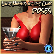 i13 Late Nights at the Club POSES Poses/Expressions Themed Software ironman13