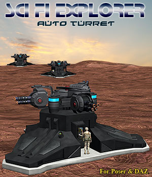 SciFi Auto Turret Props/Scenes/Architecture Themed Simon-3D
