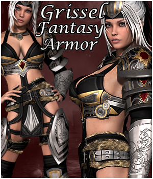 Grissel Fantasy Armor for V4 3D Figure Essentials 3D Models Extended Licenses RPublishing