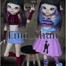 EmoShun Clothing Footwear Themed JudibugDesigns