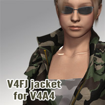 V4FJ jacket for V4A4 3D Figure Assets kobamax