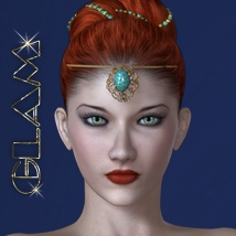 Updo n' Company GLAM - Hair Accessories 3D Figure Assets 3D Models nirvy