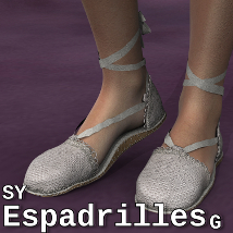 SY Espadrilles G 3D Figure Essentials SickleYield